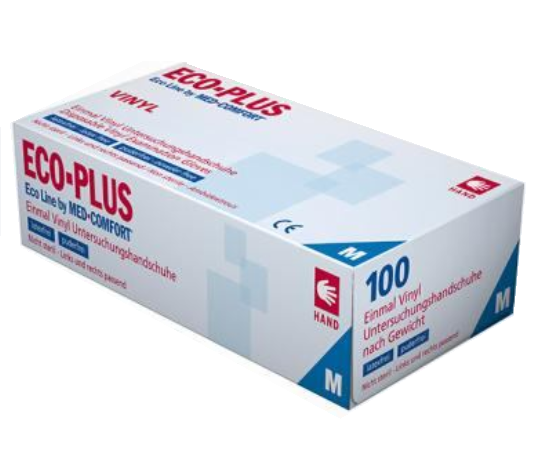 Vinyl Handschuhe Med-Comfort  S,M,L,XL 100 St. (1 Box)