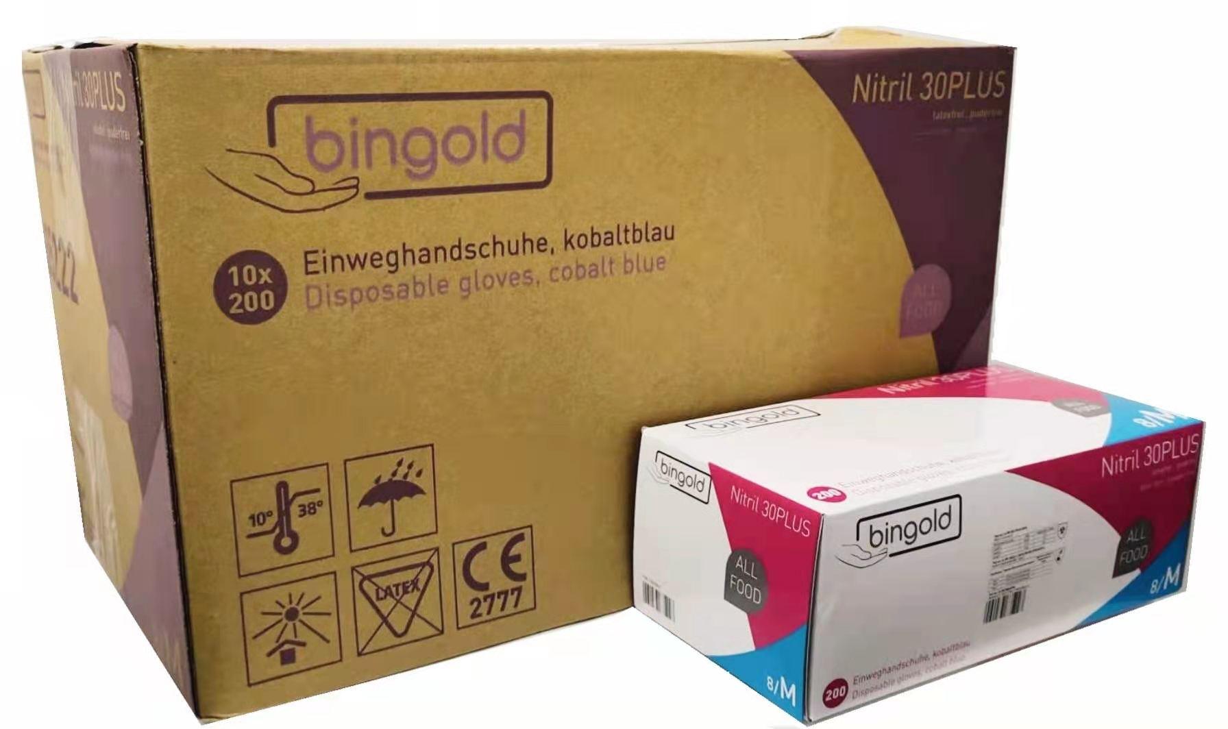 Nitril-Handschuhe Bingold M 2000St.( 1 Karton, 10x200er)