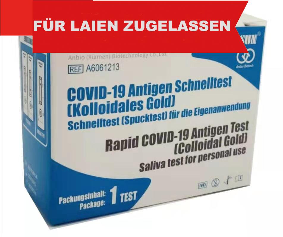 Anbio Biotech Covid 19 Spucktest für die Eigenanwendung ,100 Tests (Einzelverpackung)