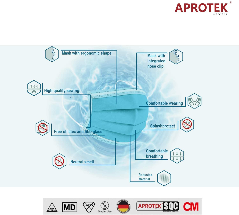 APROTEK®  KINGFA TYPE IIR Medizinische OP-Maske(1 Box, 50 Stück, 5x10er)