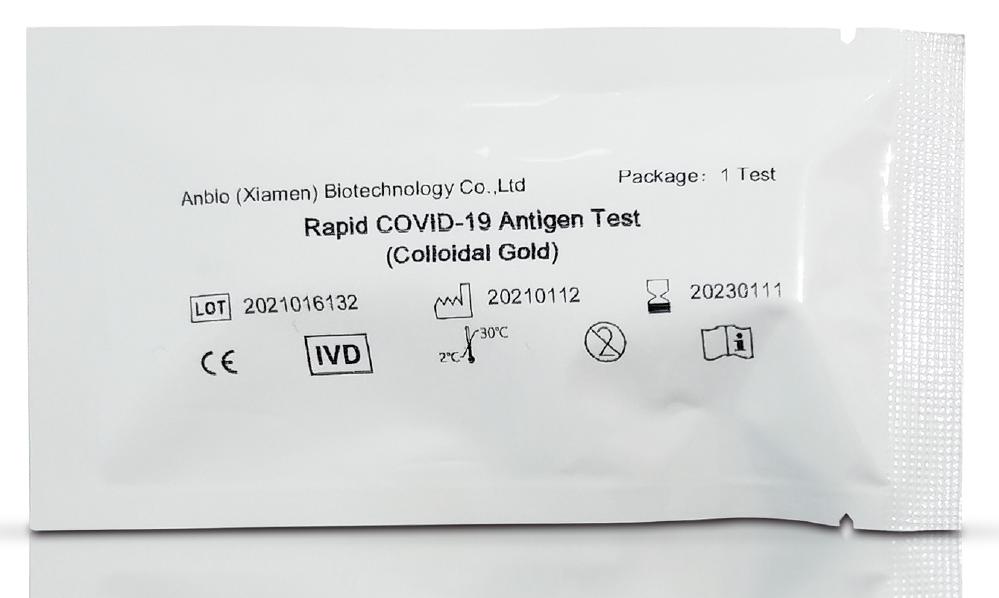 20 Stück,Einzeln verpackt, Spucktest COVID-19 Antigen-Schnelltest