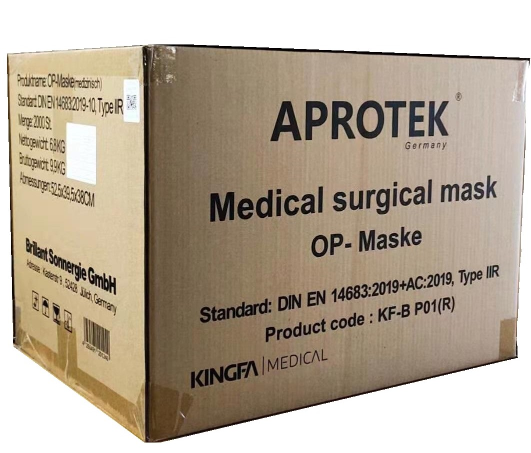 APROTEK® KINGFA TYPE IIR Medizinische OP-Maske  2000St.(1 Karton, 40x50er)