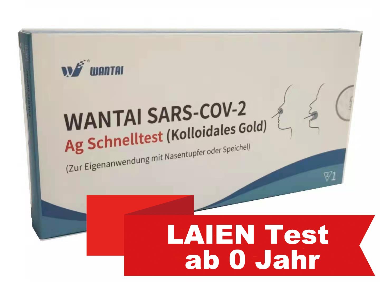 LAIEN WANTAI®  2-in-1 Test,Nasal oder Speichel,100 Tests(Einzelverpackung)