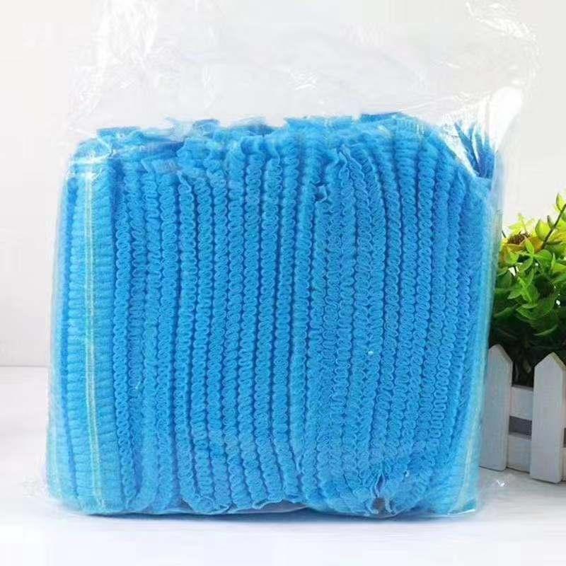Baretthaube Vlieshauben Einmalhaube mit Gummiband  100 Stück/VE ,blau