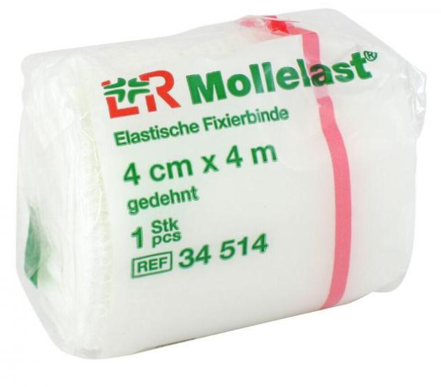 Mollelast, Elastische Fixierbinde (4cm x 4m),100 Stück