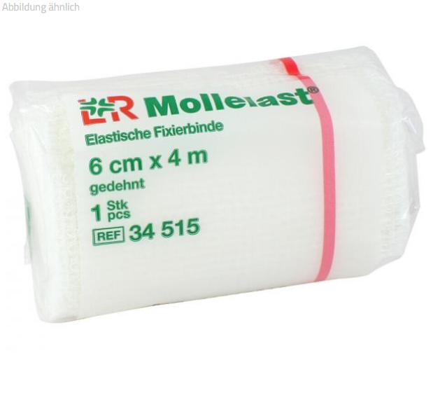 Mollelast, Elastische Fixierbinde (6cm x 4m),360 Stück (1 Karton)