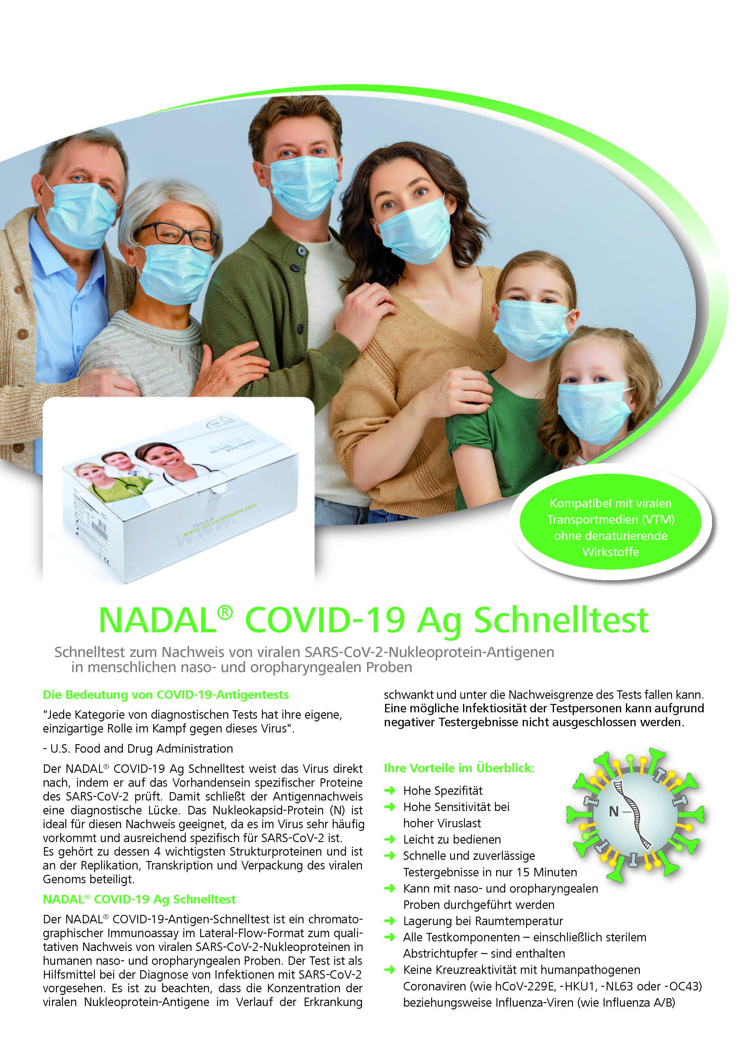 NADAL® COVID-19 ANTIGENTEST nur an medizinisches Fachpersonal