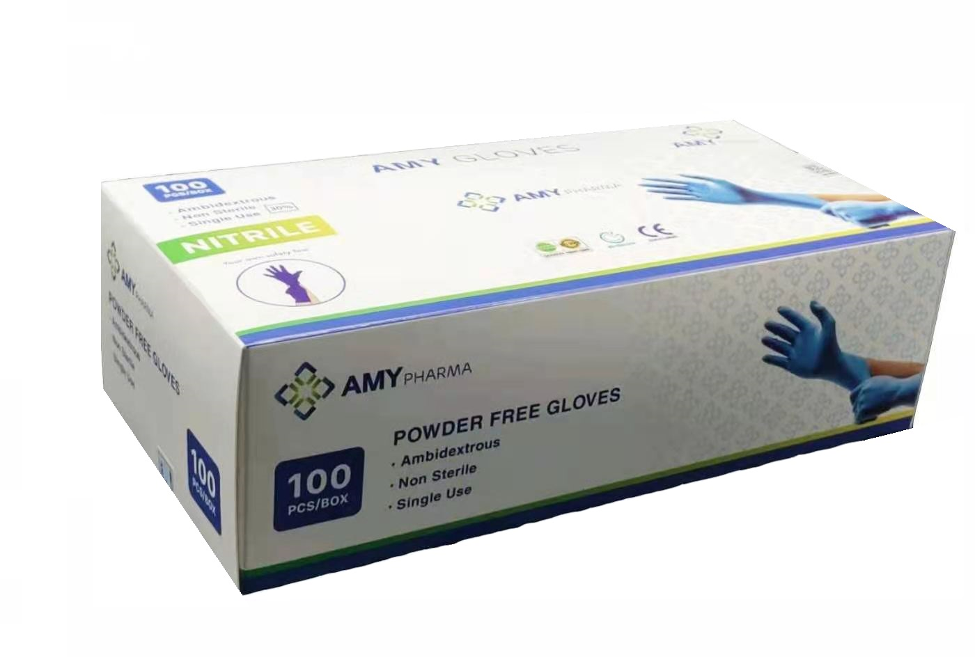 Nitril-Handschuhe AMY M,L,XL, 100St.(1 box)