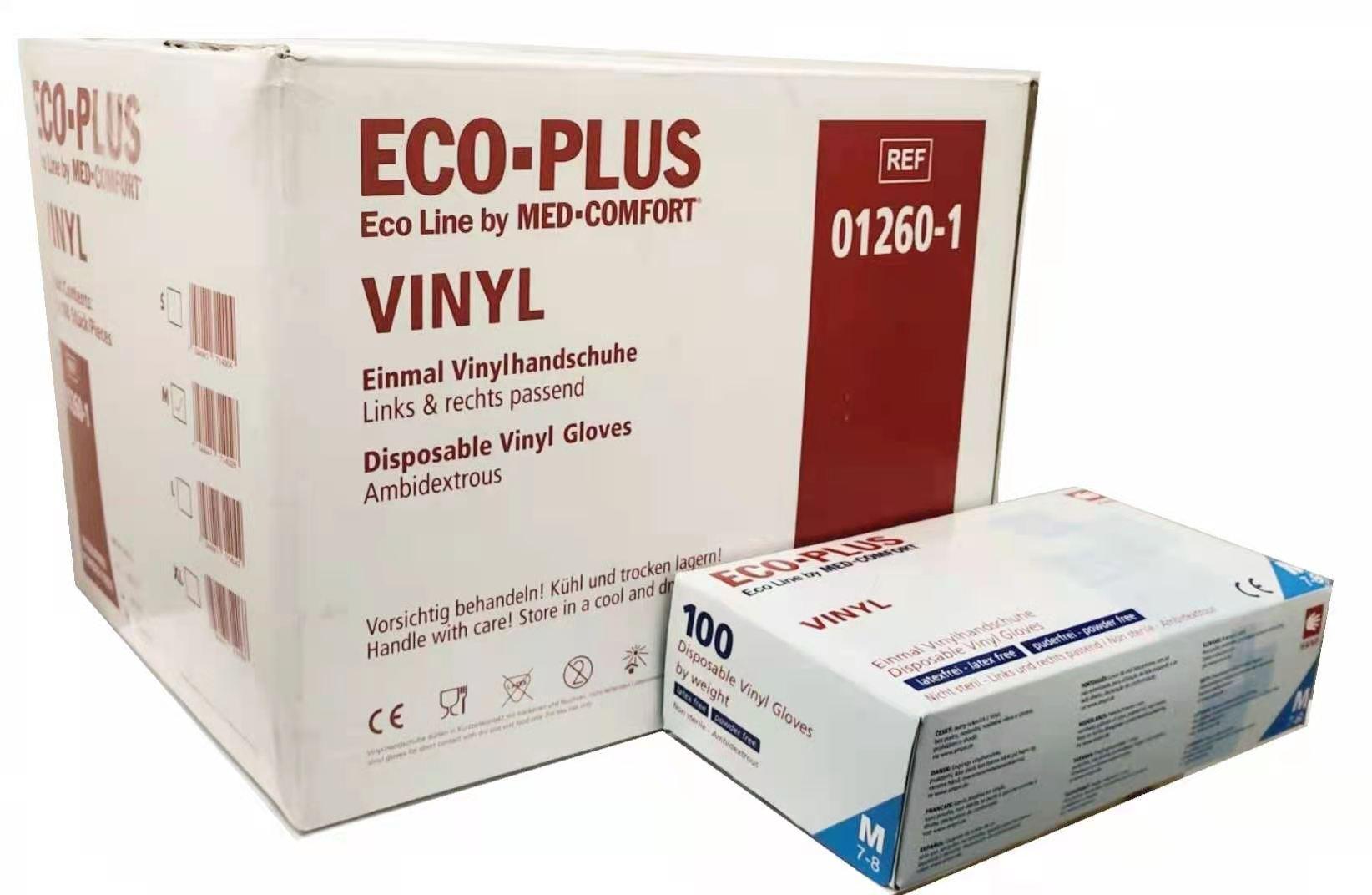 Vinyl Handschuhe Med-Comfort 1000 St.( 1 Karton, 10x100er)