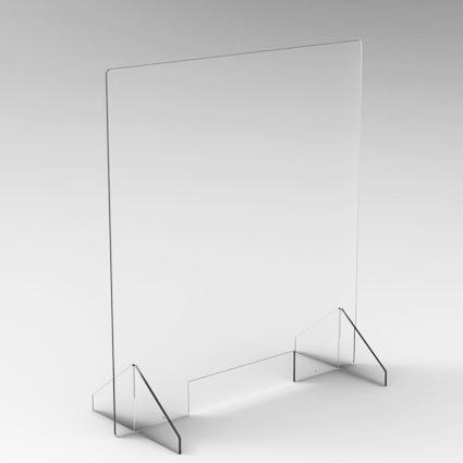 Spuckschutz Plexiglas 80cm x 90cm, 6 Stück/VE